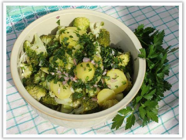 Pomme de terre et broccoli