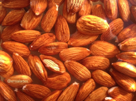 Almond soaking