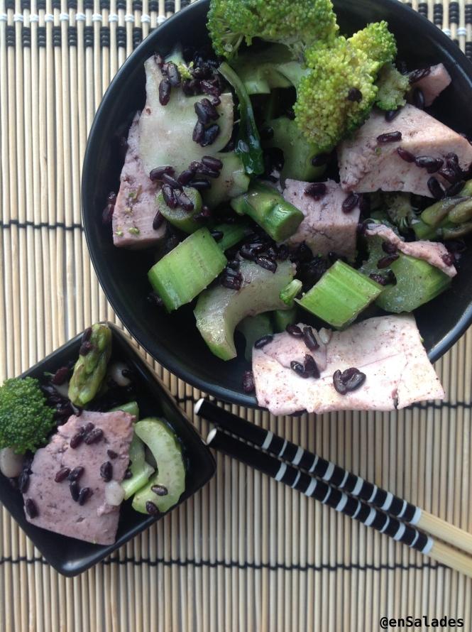 Soy celery broccoli vegan