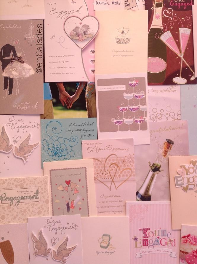 Pink engagement wedding enSalades